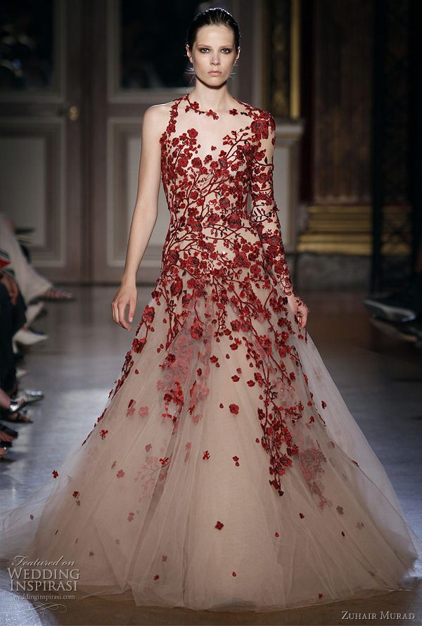Zuhair Murad 2012. A forest of red vines.