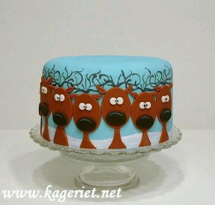 Reindeer cake Cake Ideas Pinterest