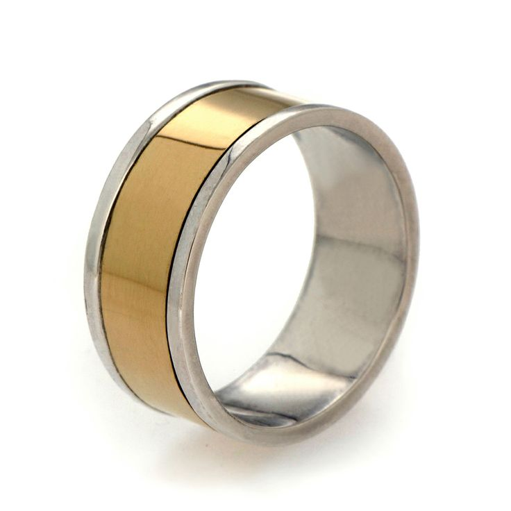 18k gold and silver men 39 s wedding band arosha taglia