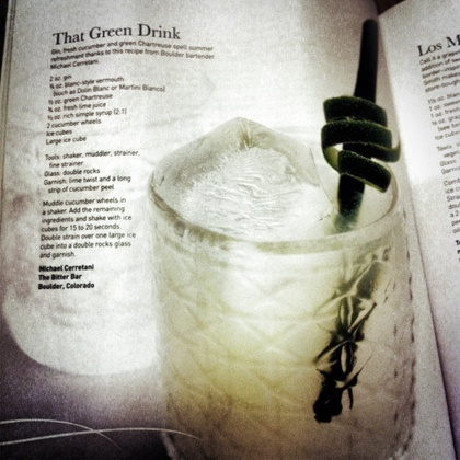 That Green Drink @ The Bitter Bar - Made it to Imbibe Magazine!