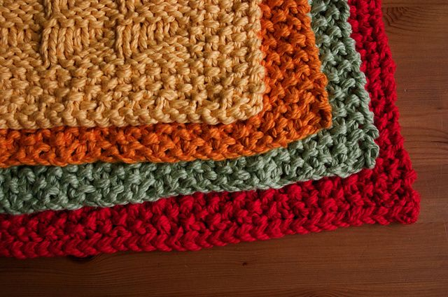 Knitted Placemat Patterns : Knit sampler placemats KITCHENS IDEAS Pinterest