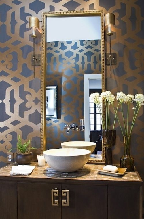 Gray And Gold Wallpaper Sink Trend Alert Gray