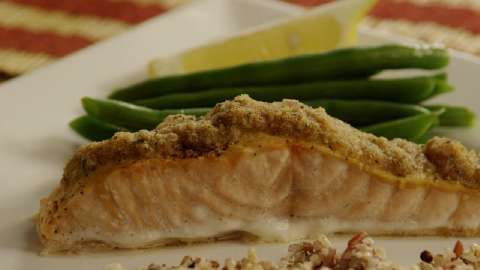 Baked Salmon Dijon, simply yummy and ultimately easy and fast, love it ...