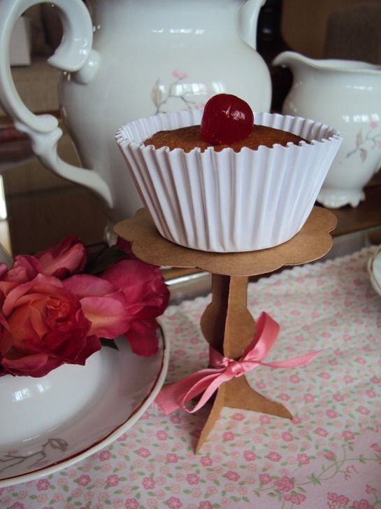 TUTORIAL: Easy Paper Cupcake Stands and Martha Stewart Living DID feature by Birds Party