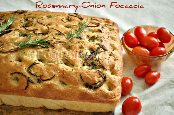 Rosemary-Onion Focaccia (w/ frame by frame instruct.)