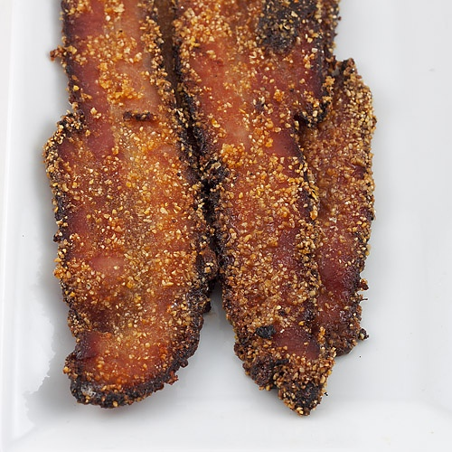 The Nesting Project: Cornmeal and Brown Sugar Crusted Bacon