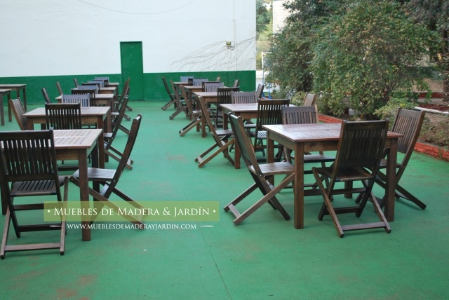 Mesas para restaurantes muebles de jardin pinterest for Muebles de jardin mesas