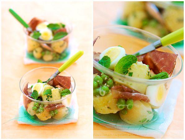 Potato Salad With Peas And Mint Recipe — Dishmaps