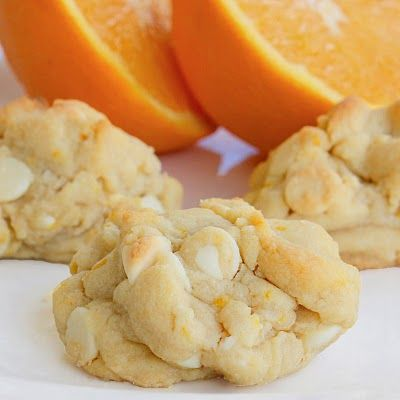 Orange creamsicle cookies. UPDATE: Made these for one of the six Christmas cookies this year - these were voted the favorite - will definitely be making again.