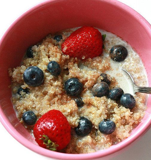 Recipe for Vegan Blueberry Maple Quinoa Cereal -- think I would make ...