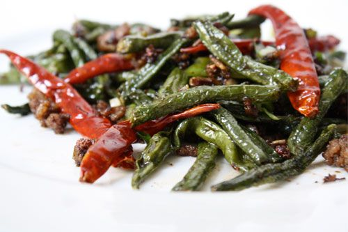 Sichuan Dry-Fried Yard-long Beans | Recipe