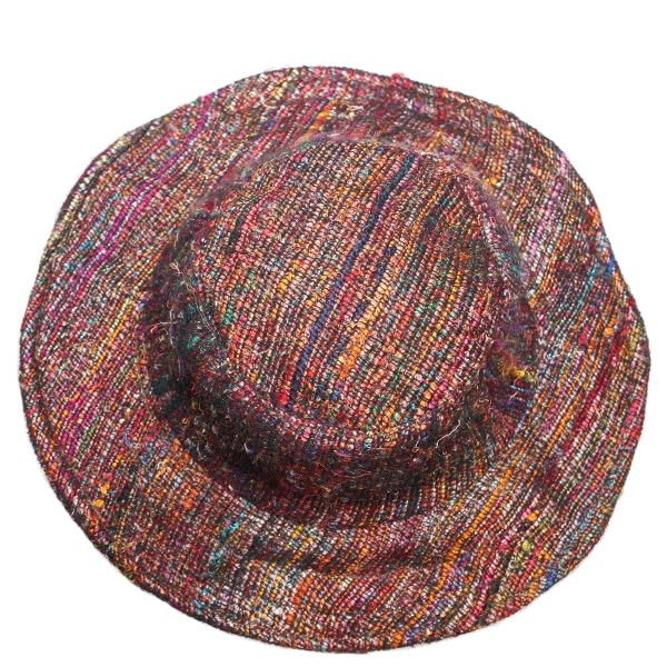 Multi coloured silk hat