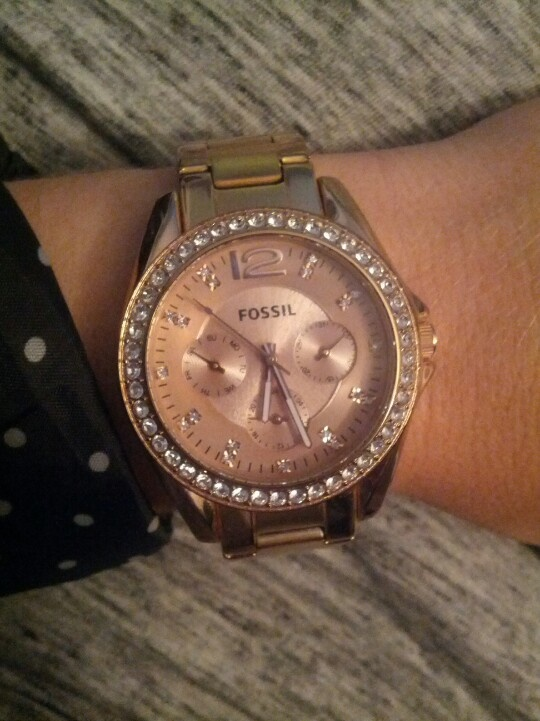 rose gold fossil watch watches pinterest. Black Bedroom Furniture Sets. Home Design Ideas
