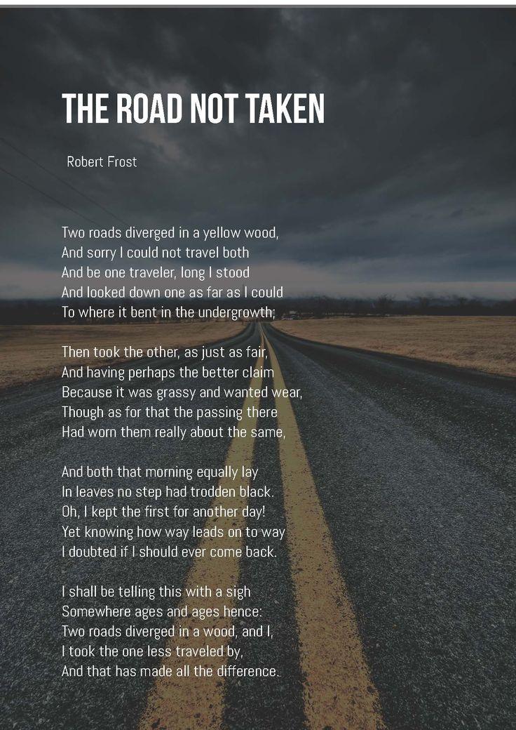 the road less traveled poem pdf