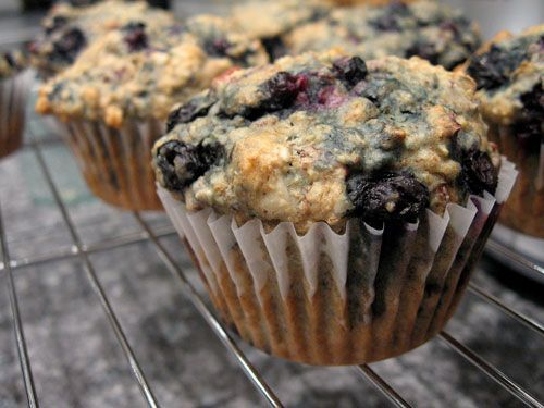 whole wheat blueberry muffins. i plan on using real eggs, and subbing ...
