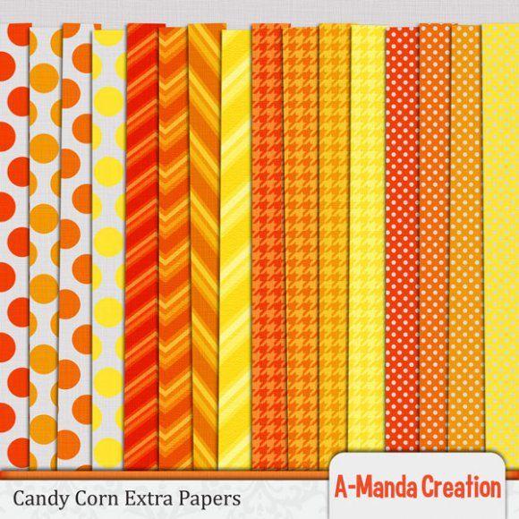Halloween Candy Corn Scrapbook Paper