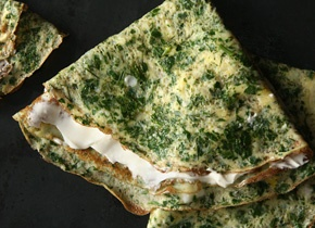 Herb Omelets Recipe. Going to try this with nonfat milk and egg whites ...