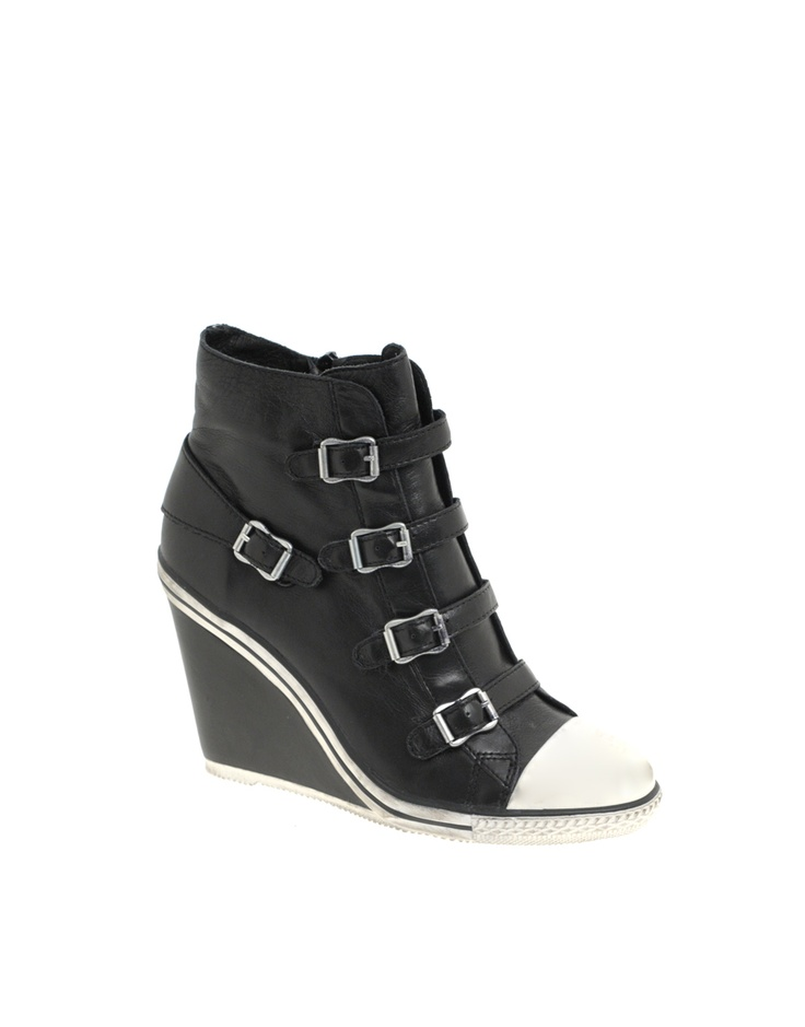 Ash Thelma Multi Buckle Wedge Trainer