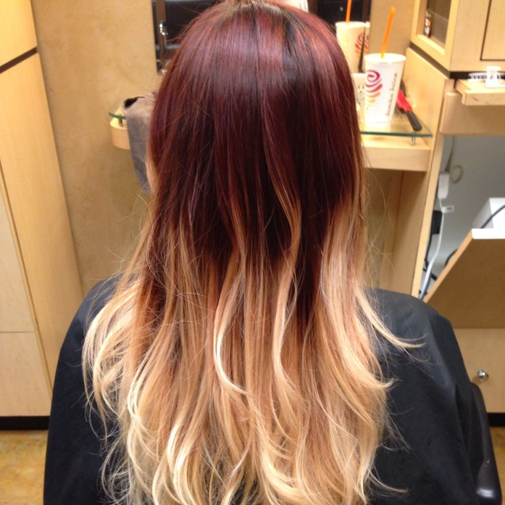 red to blonde ombr233 love hair stylin pinterest