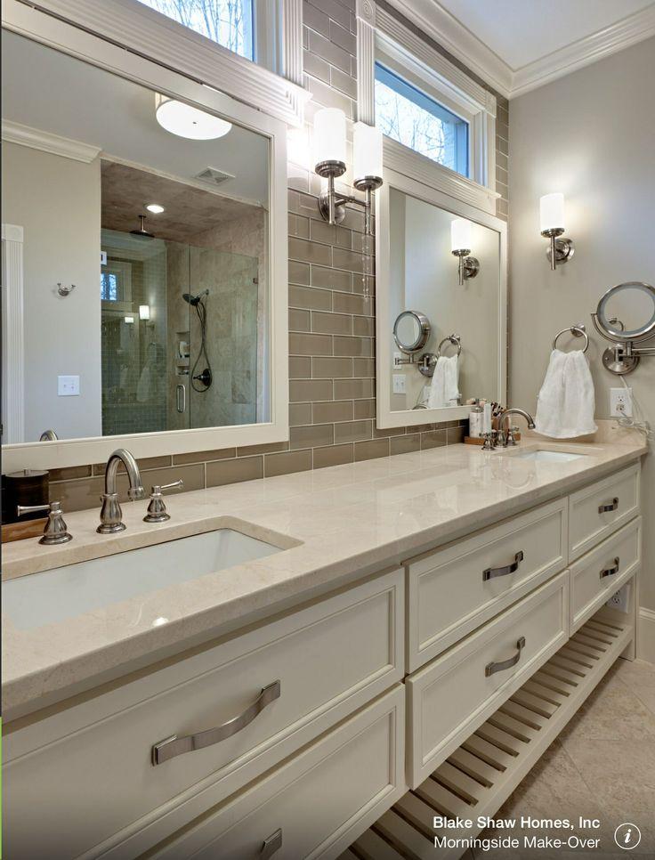 Tile master bath backsplash for the home pinterest for Master bath tile pictures