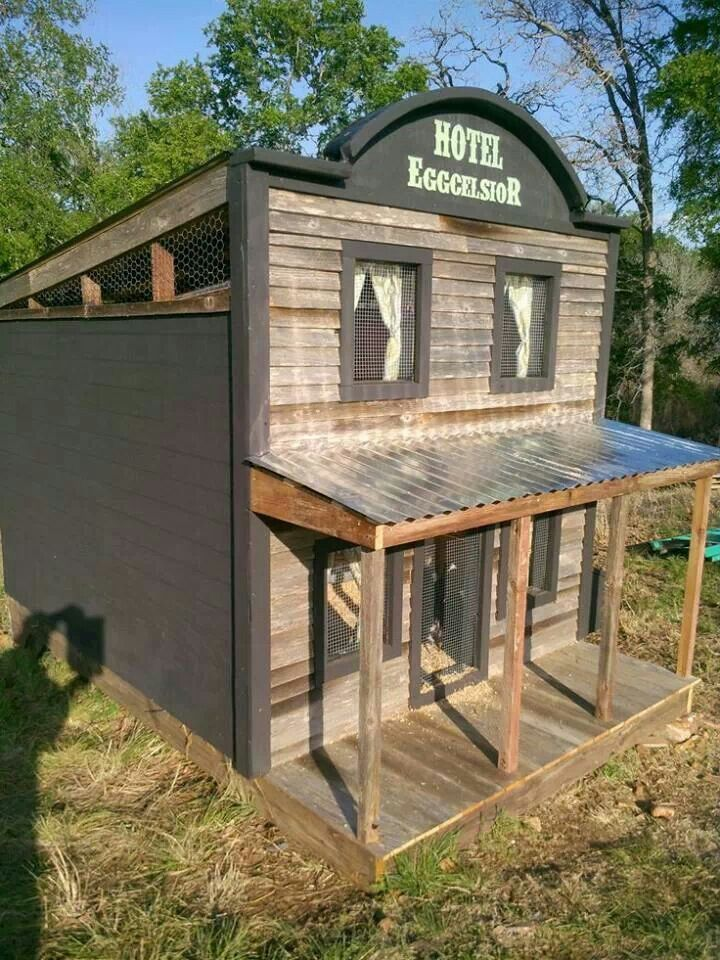 Another cool chicken coop for Cool chicken coop plans
