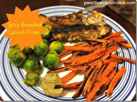 Spicy Roasted Carrot 'Fries'