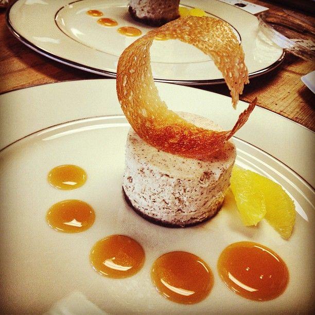 cranberry cointreau sauce ricotta cheesecake with caramel orange sauce ...