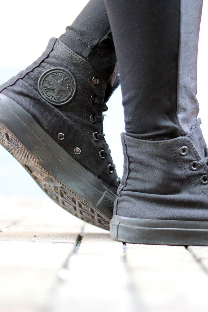 all black converse my style pinterest