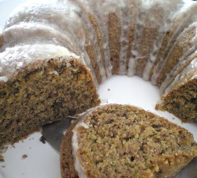 Vegan Zucchini Cake with Lemon Glaze | Food - Gluten free, Dairy free ...