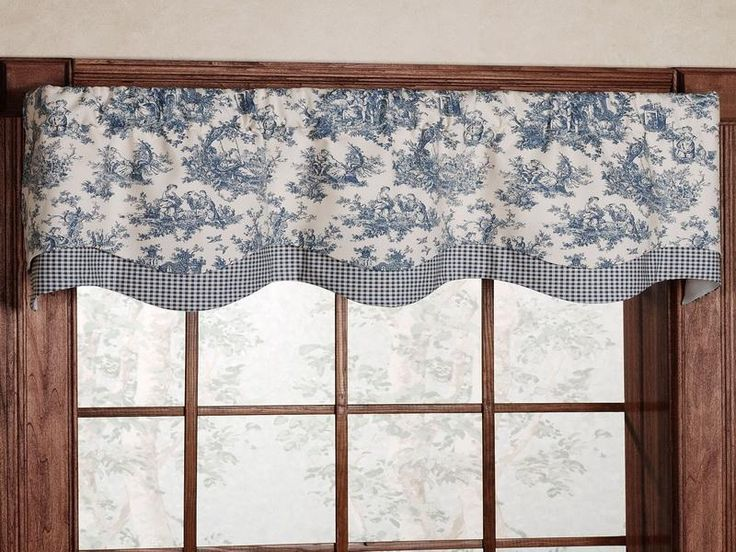 Toile kitchen curtains design ideas stuff for sarah pinterest - Kitchen valance ideas ...