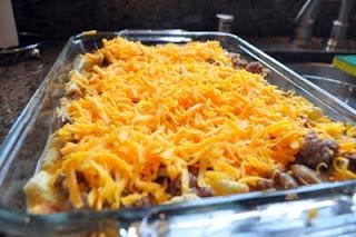 Breakfast Casserole using croutons