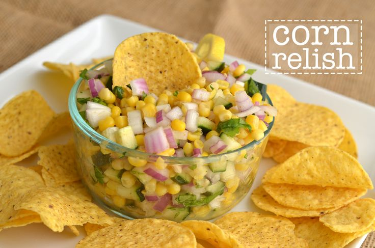 "This ""corn relish can double as a corn pico, paired with crunchy corn ..."