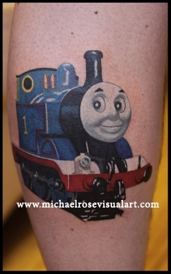 michael rose thomas the tank engine tattoos art