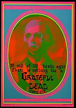 "Victor Moscoso Neon Rose #13 Grateful Dead ""99 Heads"" Poster"