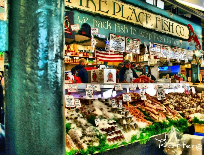 Pike place fish market seattle view bug photo 39 s pinterest for Pikes market fish