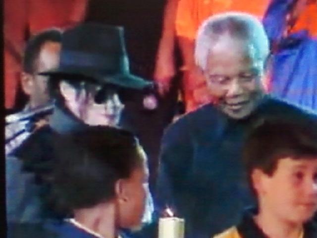 Michael with Nelson Mandela