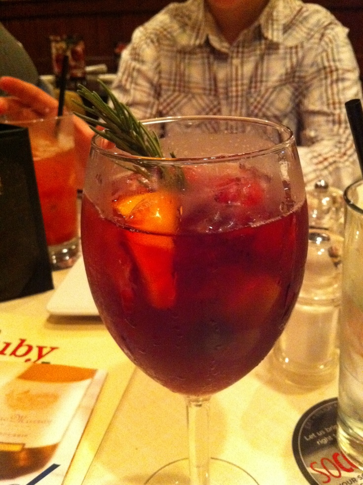 Holiday Sangria @ Ruby Tuesday. Christmas in a glass!