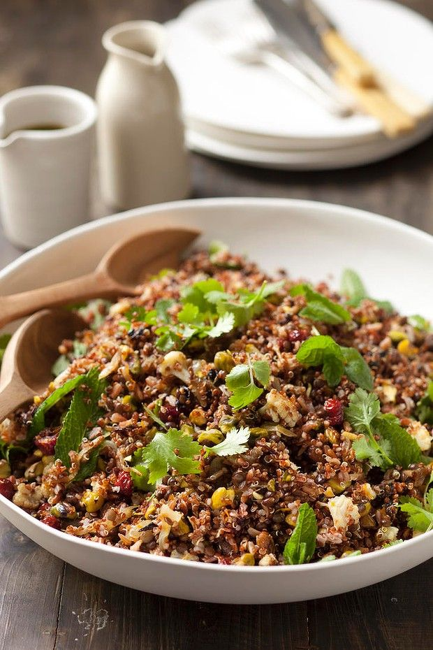 Red Quinoa Salad With Cauliflower And Walnuts Recipes — Dishmaps