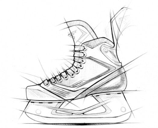 easton mako hockey skates sketch coloring page. Black Bedroom Furniture Sets. Home Design Ideas