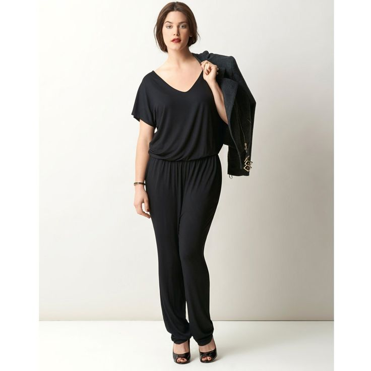 William Carnimolla Ali Tate mode grandes tailles plus-size fashion black jumpsuit