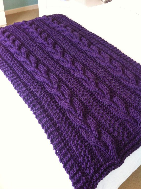 Chunky Braided Cable hand knit blanket / by LoopsandLavender, ?38.99 Winter...