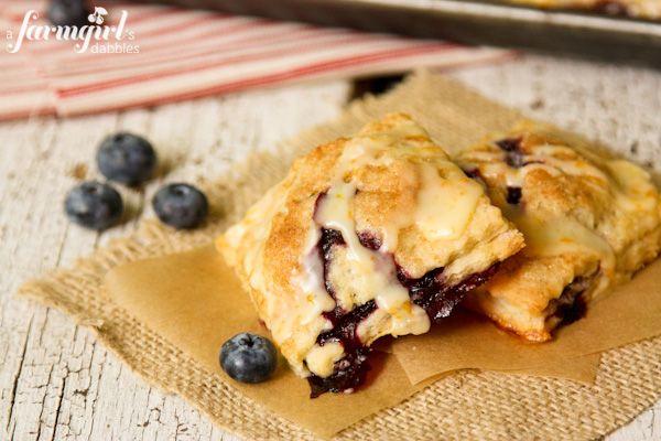 Blueberry Hand Pies with Orange Glaze - www.afarmgirlsdabbles.com