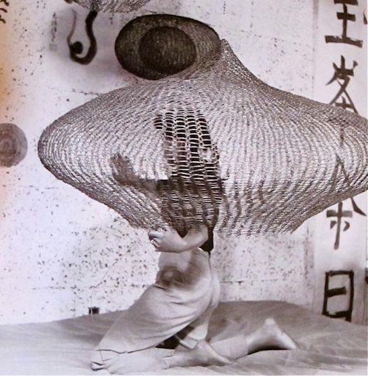 crochet sculpture by Ruth Asawa, image by Imogen Cunningham