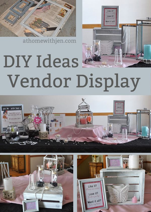 Diy vendor table display ideas partylite vendor for Table top display ideas