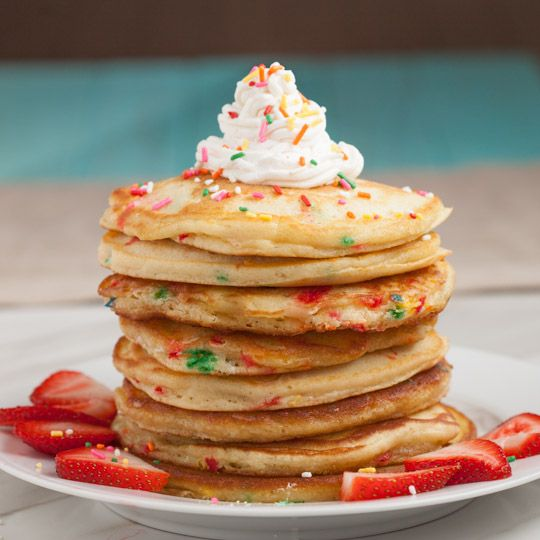 Funfetti Pancakes (from scratch) - Chew Out Loud