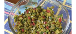 Ensalada de Nopalitos (Cactus Salad) | mexican food | Pinterest
