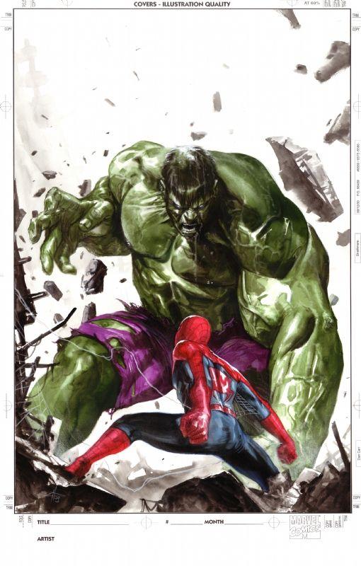 spider man vs hulk by gabriele dellotto