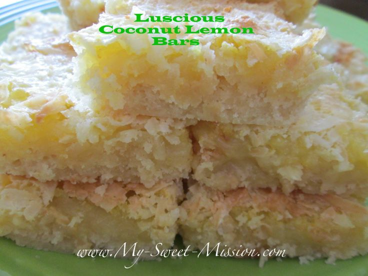 My Sweet Mission: Luscious Coconut Lemon Bars