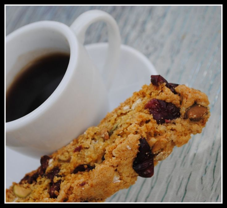 Pistachio and Dried-Cherry Biscotti | Movie Night Sweet | Pinterest