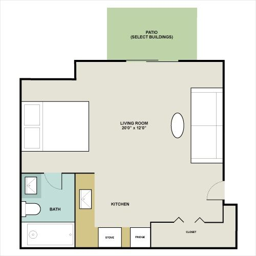 450 Square Feet Chelsea Studio Apartment 450 Square Feet The Cutest Layout For A 450 Square